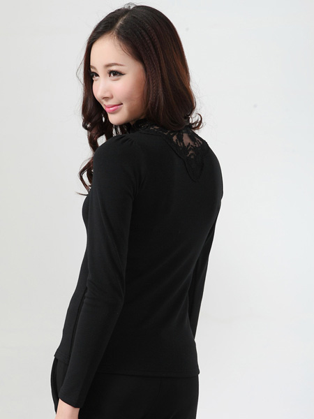 Wholesale Zanzea® Woman High Collar Long Sleeve T-shirt