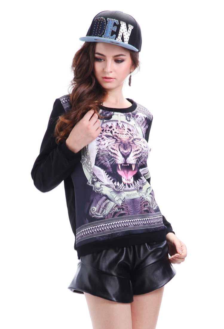 Wholesale BG-imoression Tiger Pattern Sweatshirt