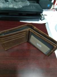 Men Business Genuine Leather Retro Card Holder Money Bag Wallet