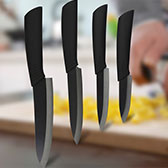 Black Blade Ceramic Knife Set