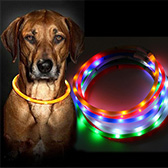 Rechargeable Waterproof LED Flashing Collar