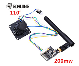 Eachine 700TVL FPV 110 Degree Cam w/32CH Transmission