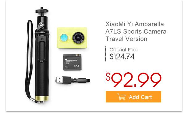 XiaoMi Yi Ambarella A7LS BSI CMOS WIFI Sports Camera Travel Version