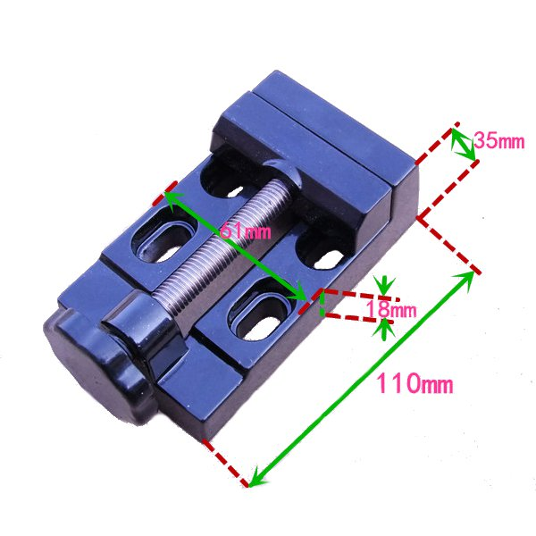 55mm Mouth Diameter Aluminum Alloy Bench Vise Table Clamp For RC Models