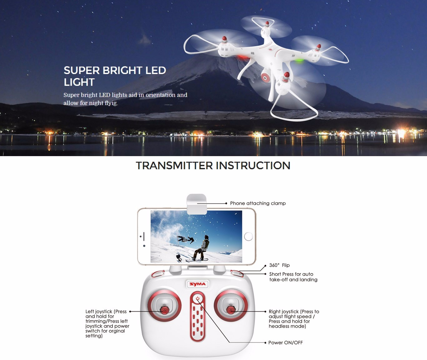 Syma X8SW WIFI FPV With 720P HD Camera 2.4G 4CH 6Axis Altitude Hold RC Quadcopter RTF