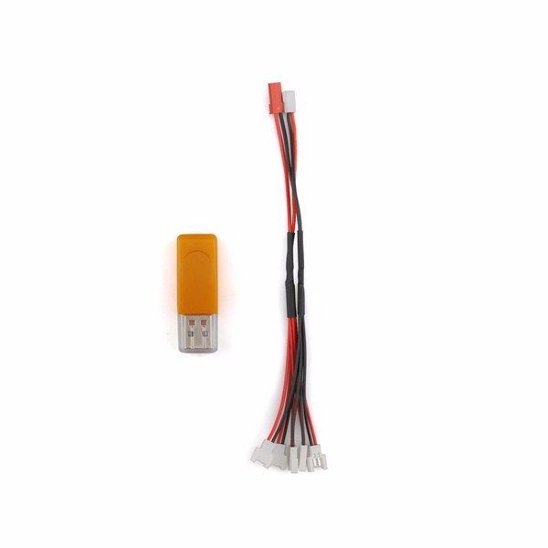Eachine E50 RC Quadcopter Spare Parts 5Pcs 3.7V 500mah Battery And USB Charger Cable