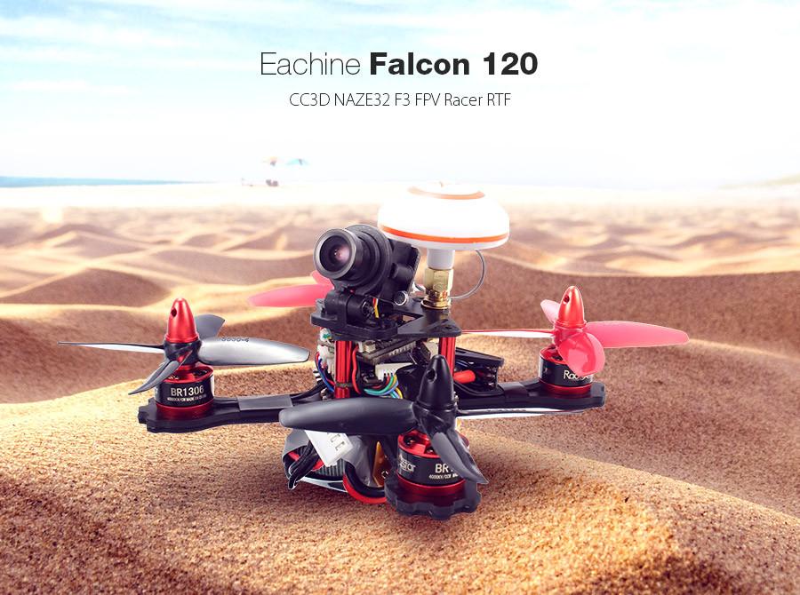 Eachine Falcon 120 F3 CC3D NAZE32 FPV Racer RTF with 4 IN 1 ESC 700 TVL Camera 5.8G 40CH VTX