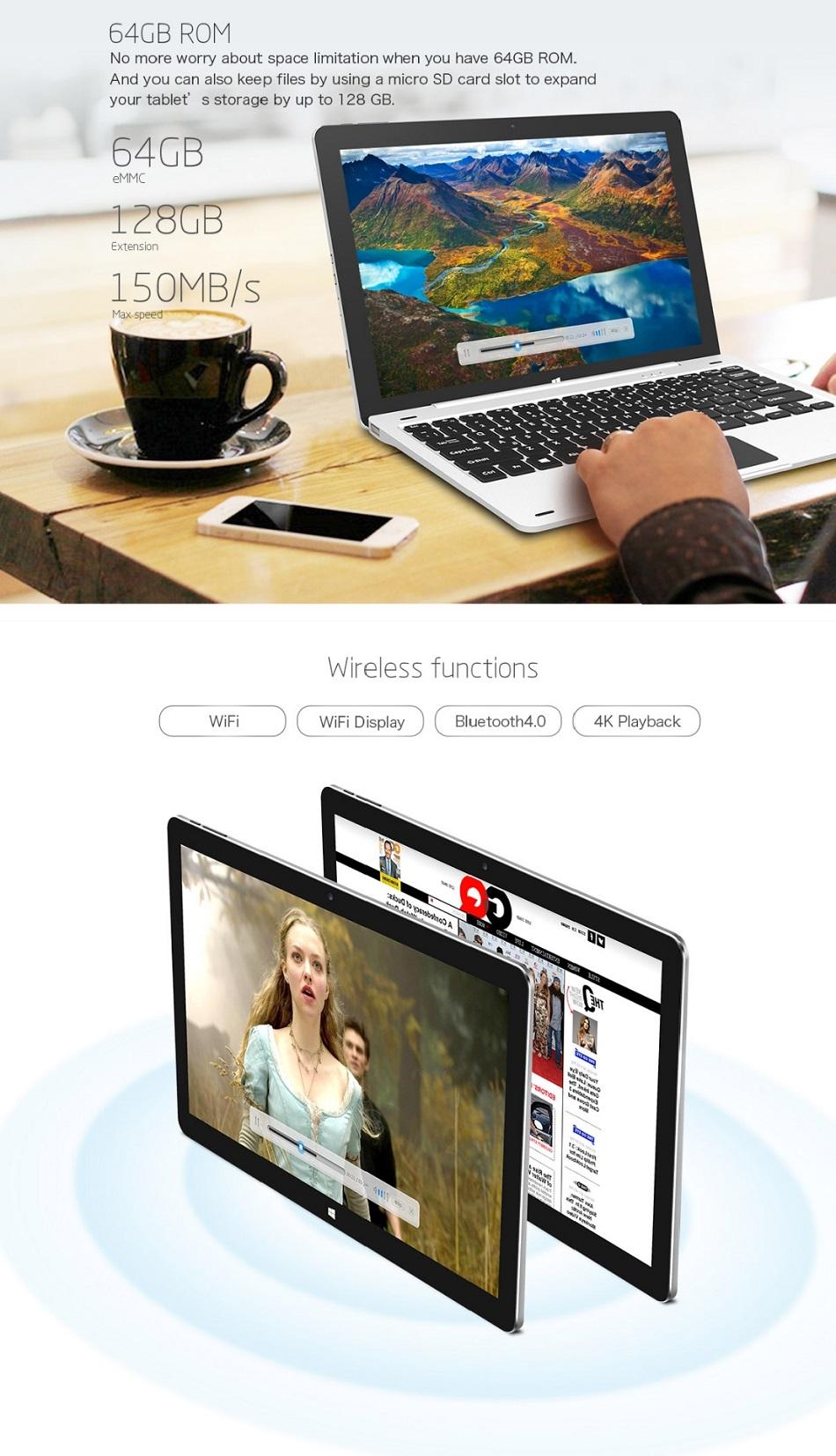 Teclast Tbook 12 Pro 64GB Intel Cherry Trail X5 Z8300 12.2 Inch Dual Boot Tablet