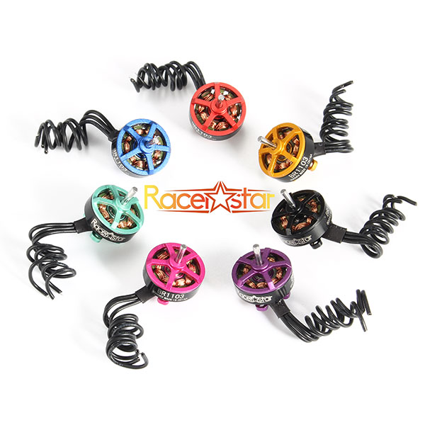 4X Racerstar Racing Edition 1103 BR1103 8000KV 1-2S Brushless Motor Black For 50 80 100 Multirotor