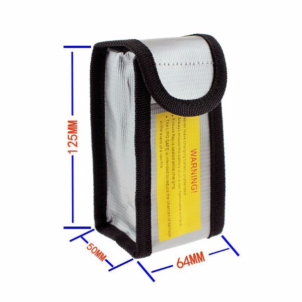 YND0045 LiPo Battery Explosion-Proof Safety Bag 64x50x125mm