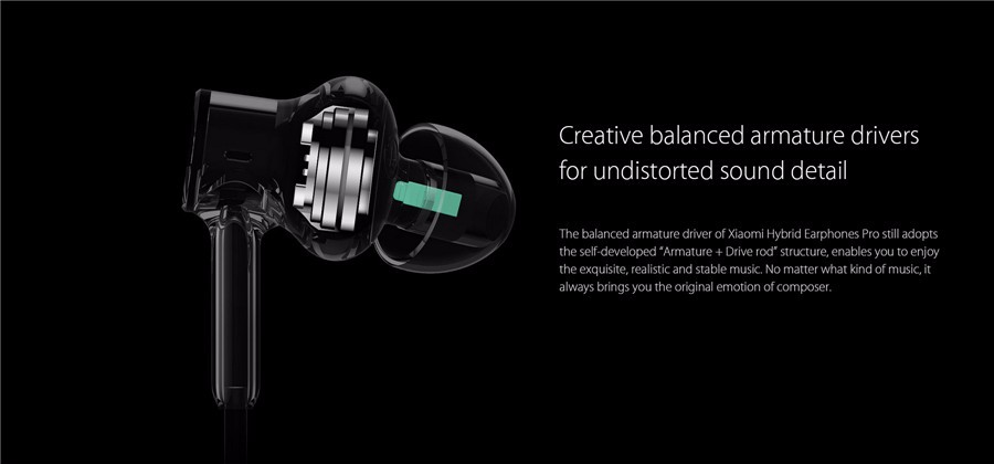 Original Xiaomi Hybrid Pro Six Drivers Graphene Earphone Headphone With Mic For iPhone Android