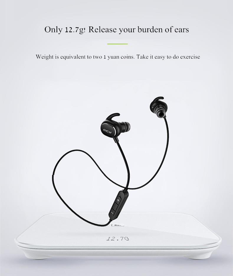 QCY QY19 Phantom Sport An-sweat Wireless Bluetooth 4.1 Headphone Earphone With Mic