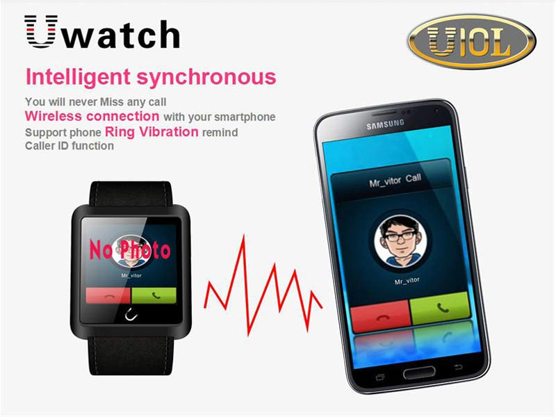 Bluetooth Smart Touch Wrist Watch Calls For iPhone IOS Android