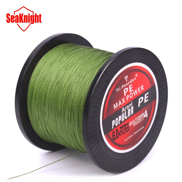 500M SeaKnight Brand Tri-Poseidon Series Japan Multifilament PE Braided Fishing Line ogint m series 500 4 секции