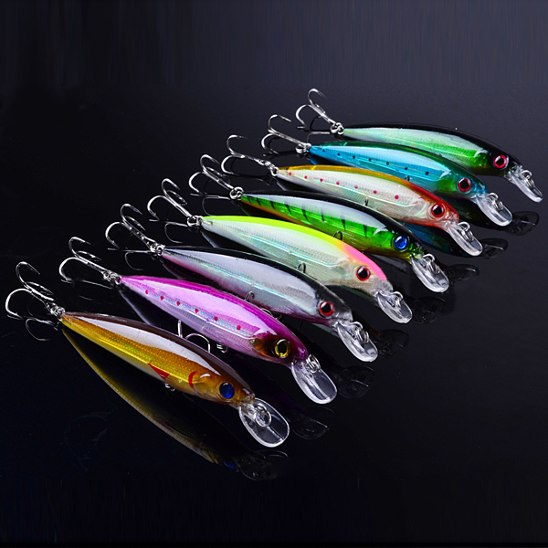 Proberos 8 PCS 11cm Minnow Bait Fishing Hard Lure Bait Fishing Tackles wdairen new fishing lures minnow crank 11cm 11g artificial japan hard bait wobbler swimbait hot model crank bait 5 colors wd 478