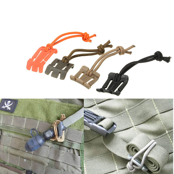 25mm Molle Dominator Strap Webbing Buckle Elastic Cord Hang Clip carabiner hook webbing buckle nylon molle belt hanging key ring outdoor tool