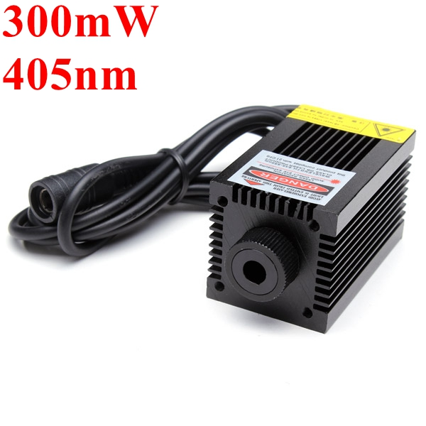 405nm 300mW Violet Dot Laser Module With Holder For DIY Laser Engraver 980nm 100mw ir laser module with dot laser beam together with power adapter plug and use