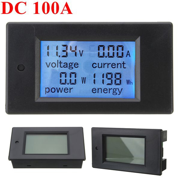 100A DC Digital Multifunction Power Meter Energy Monitor Module Voltmeter Ammeter 6.5V-100 heating power of the heater is used to save energy in electric office