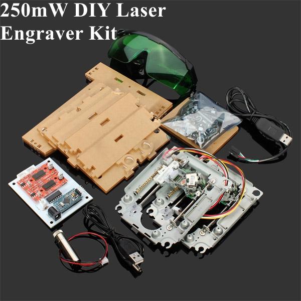 200 250mw Diy Red Laser Engraving Machine Kit Cnc Laser