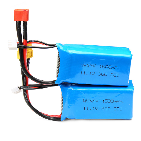 цены WSX WSX-S01 11.1V 3S 30C 1500mAh Battery For QAV250 Frame Kit