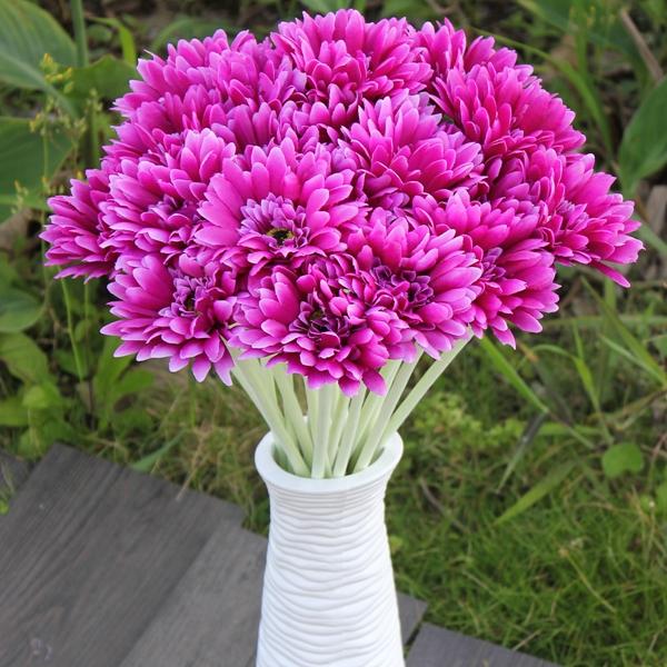 Buy 1Sunbeam Artificial Flower Mum Gerber Daisy Bridal Bouquet Silk Wedding Party Flowers