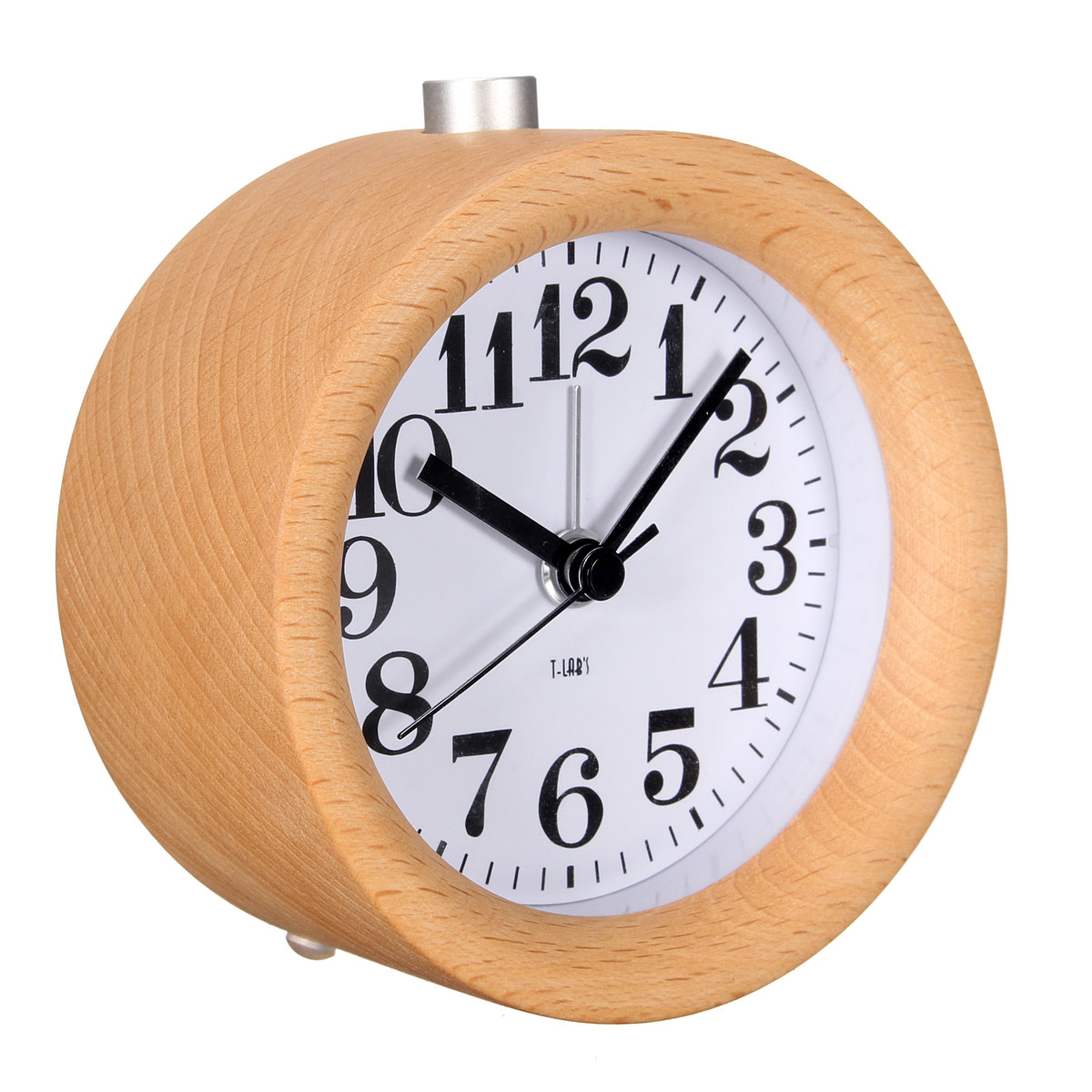 Beech Wood Alarm Clock Noctilucence Mute Creative Solid Wood Alarm Clock