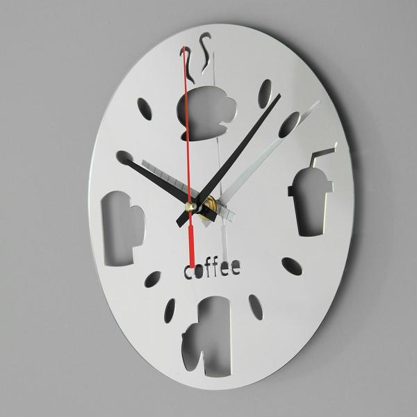 Mur de la cuisine au design moderne miroir d 39 horloge salle - Horloge de cuisine design ...