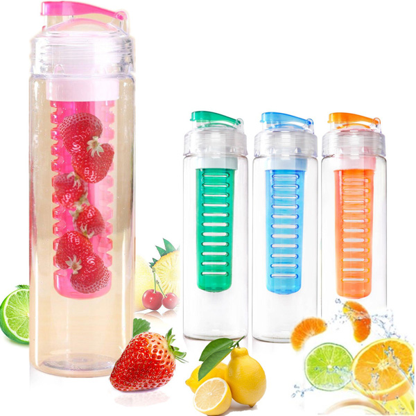 760ml Sport Fruit Infusing Infuser Water Lemon Juice Bottle BPA Free Filter usb rechargeable 500ml healthy portable hydrogen rich water cup transparent glass bottle with lid