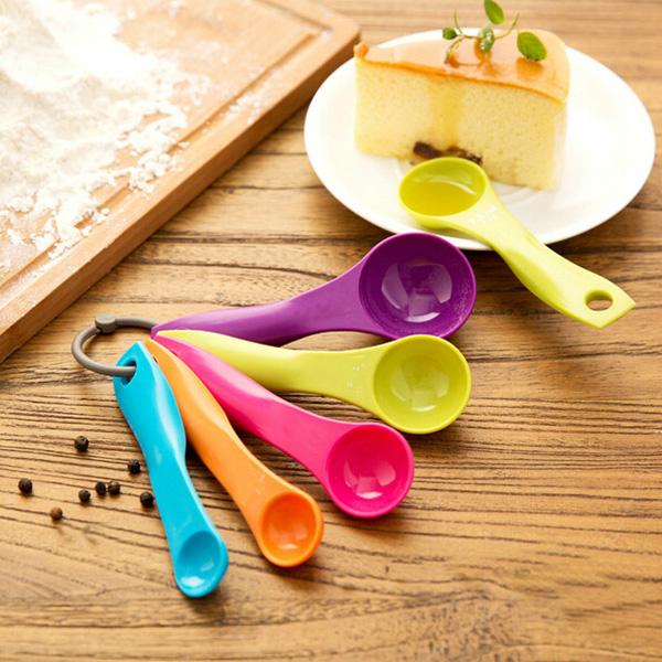 Buy Colorful Measuring Spoons Set Kitchen Tool Utensils Cream Cooking Baking