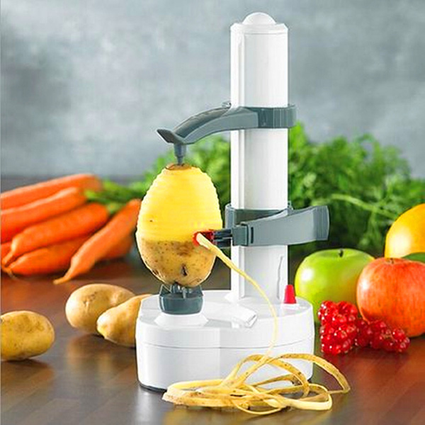 Electric Auto Rotating Potato Peeler Pear Apple Fruit Vegetable Cutter Slicer Kitchen Utensil potato spiral cutter stainless steel electric fruit vegetable spiralizer professional kitchen tools potato cutting machine