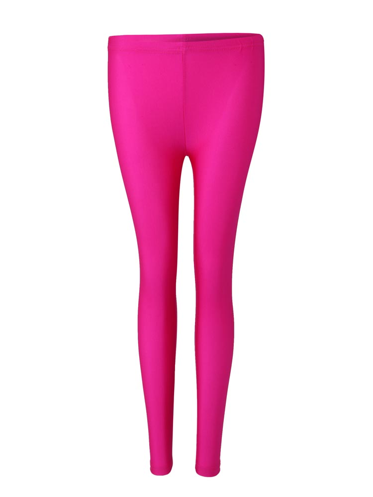 Female Candy Fluorescent Color Nylon Nine Points Leggings