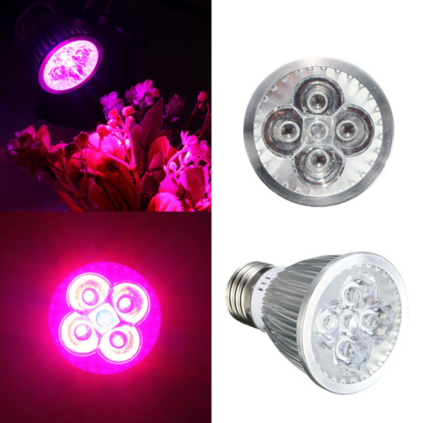 15W E27 Red + Blue LED Plant Grow Light Lamp Flower Hydroponic Globe Bulb 85-265V - EachineLED Grow Lights<br>Description: Light type: LED Plant Grow Light Base type: E27 Output power: 15W Dimmable: No Beam angle: 60 degree LED wavelength: Red: 650~660nm ; Blue: 440~450nm Input voltage: AC85-265V Housing material: Aluminium+Class Storage condition: -40~85 degree Working temperature: &lt;65C Power: 15W LED quantity: 15W:5 pieces (4 red &amp; 1 blue) Package Included: 1X 15W E27 LED Plant Grow Light Lamp Bulb Flower Hydroponic<br>