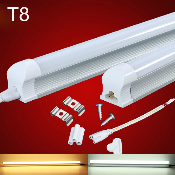 T8 60CM 9W White Warm White LED Rigid Strip Tube Light AC 165-265V 4pcs lot 72leds 216w full spectrum led grow light ac85 265v ufo led plant lamp red blue uv ir indoor grow tent lighting