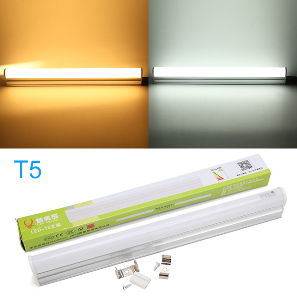 T5 28CM 5W White/Warm White LED Rigid Tube Light AC 165-265V pro svet light mini par led 312 ir
