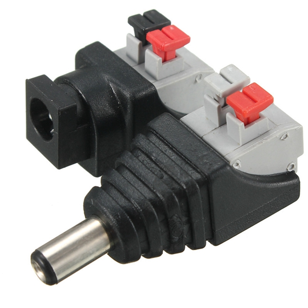 DC Power Male Female 5.5X 2.1mm Connector Adapter Plug Cable Pressed connected for LED Strips 12V 12v male female 2 1x5 5mm dc power jack plug adapter connector for cctv single color led strip light