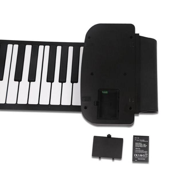 KONIX 61 Key MIDI Keyboard Electronic Roll Up Piano PA61 With Battery
