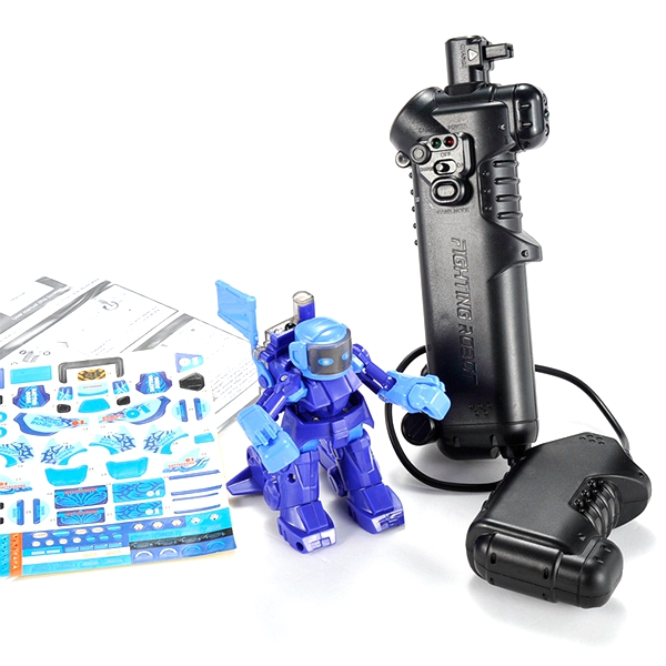 YIQU Remote Radio Control Battle Fighting RC Robot - EachineOther RC Toys<br>YIQU Remote Radio Control Battle Fighting RC Robot Description: Name: Battle Fighting RC Robot Brand: YIQU Model: YQ88193-1,YQ88193-2,YQ88193-3 Color: Blue,Red,White Weight: 320g Material: Plastic Size: 9.1*7.2*7.5cm Box size: 22*16*8.5cm Suitable for ages: 3 years old above Battery Configuration: AA battery is not included Instructions for use: The remote control uses two AA batteries; robot by remote control recharging Features: It is safe enough for your kids to play with. Good present for kid, inspire them through the entertainment. Various personalized movement, experiencing a real robot battle. Control by an innovative nunchunk transmitter, just operate by your own instition. No assemble needed, swing your hand with the transmitter and control the robot. Best to play together with your friends or families, happily enjoy an extraordinary boxing game. Package included: 1 x Battle Fighting RC Robot 1 x English Manual<br>