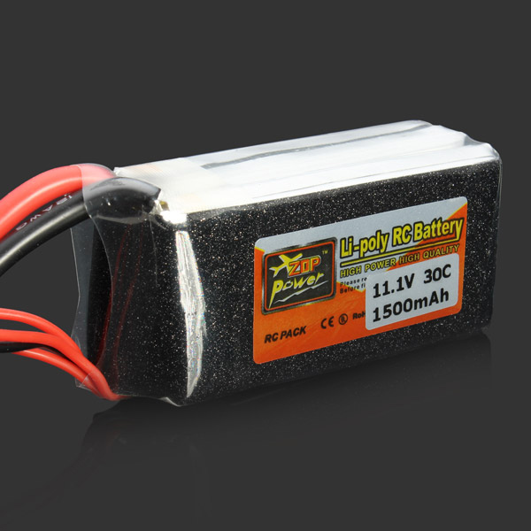 ZOP Power 11.1V 1500mAh 30C Lipo Battery XT60 Plug wild scorpion 11 1v 1500mah 25c xt60 plug
