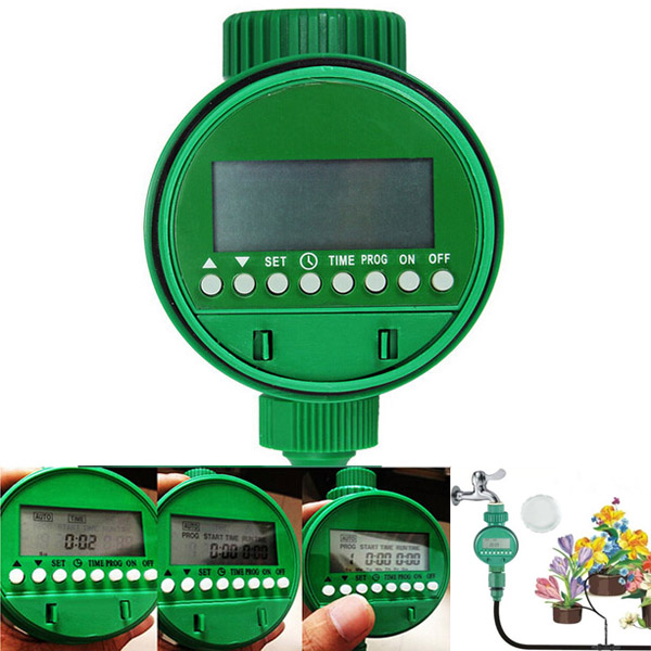 Intelligent Automatic Flowers Watering Timer House Garden Water Timer time electric valve ac110v 230 3 4 bsp npt for garden irrigation drain water air pump water automatic control systems