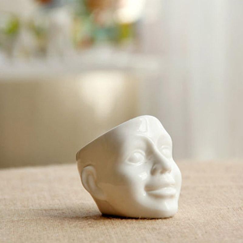 Cr atif mini c ramique blanche cr ne pot de fleur d cor v g tal de bureau domicile pot de - Entrepot ceramique decor ...