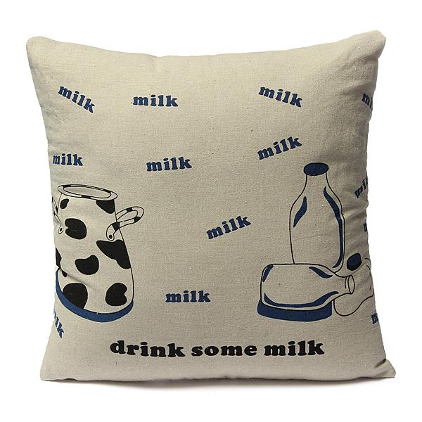 42x42cm Creative Milk Cup Printed Pillow Case Home Cushion Covers