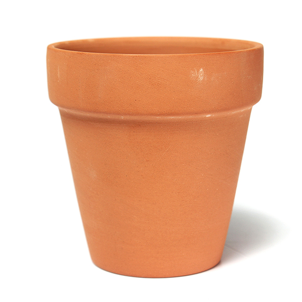 New red ceramics terracotta flower pot clay for small for Small clay pots