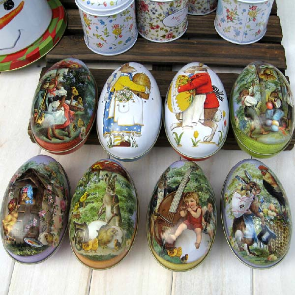 Buy Easter Egg Shape Box Gift Jewelry Candy Tea Coffee Store Tin
