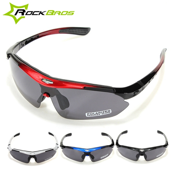 RockBros Polarized Cycling Bike Bicycle Sunglasses Glasses Goggles black picture frame grey lenses cycling labor goggles windproof sand proof sun glasses