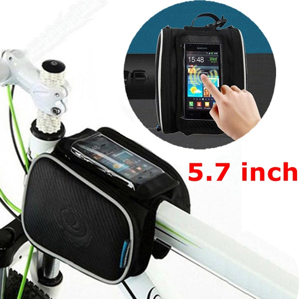 5.7inch Roswheel 1.8L Bicycle Bike Pouch Pannier Front Tube Bag roswheel mtb bike bag 10l full waterproof bicycle saddle bag mountain bike rear seat bag cycling tail bag bicycle accessories