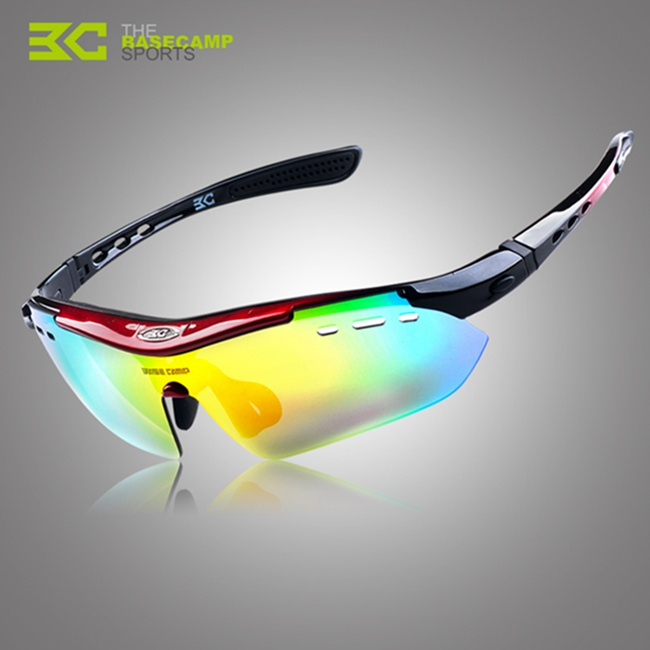 Polarized Polaroid Bike Bicycle Cycling UV Sunglasses Sun Glasses black picture frame grey lenses cycling labor goggles windproof sand proof sun glasses