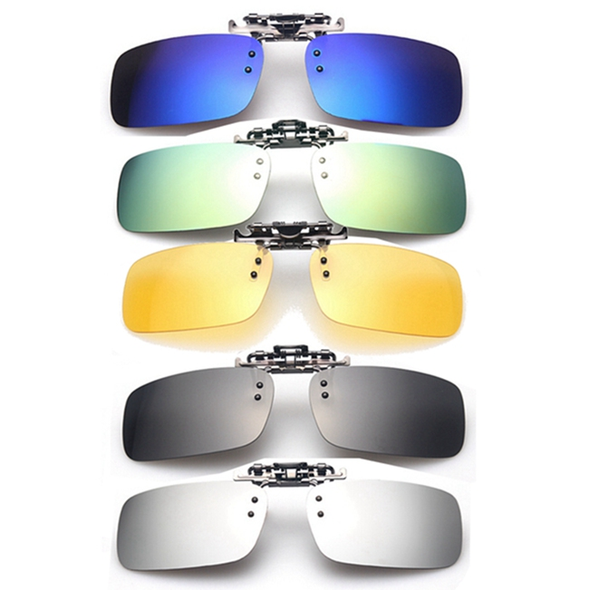 Polarized Clip On Sunglasses Sun Glasses Driving Night Vision Lens 2016 high quality tr90 eyeglasses sunglasses clip brand polarized lens men women myopia clips driving sun glasses with case hp90