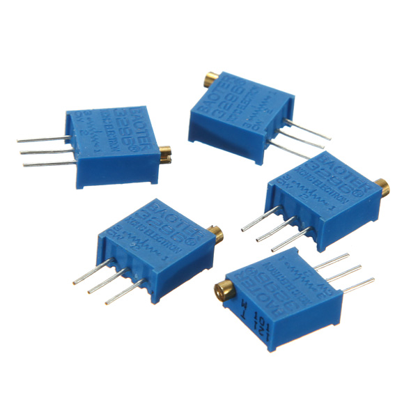 5Pcs 10K 3296W 3296 Trimmer Potentiometer Variable ResistorArduino &amp; SCM Components<br>5Pcs 10K 3296W 3296 Trimmer Potentiometer Variable Resistor Description: Quantity: 5 Pcs Weight: 5 g Series: 3296W Resistance: 10K Tolerance: 10% Power Dissipation: 0.5W Package included: 5 x 3296 10K Trimmer Variable Resistor<br>