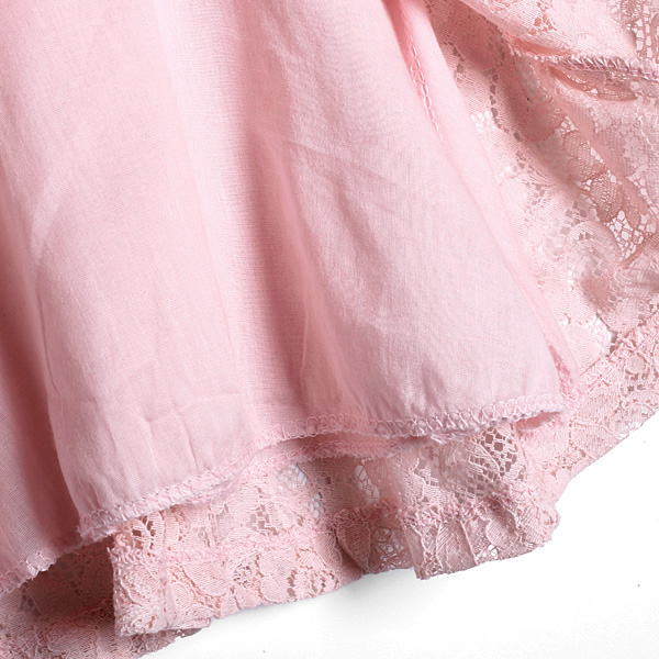 Baby Girls Princess Lace Birthday Party Flower Solid Dress