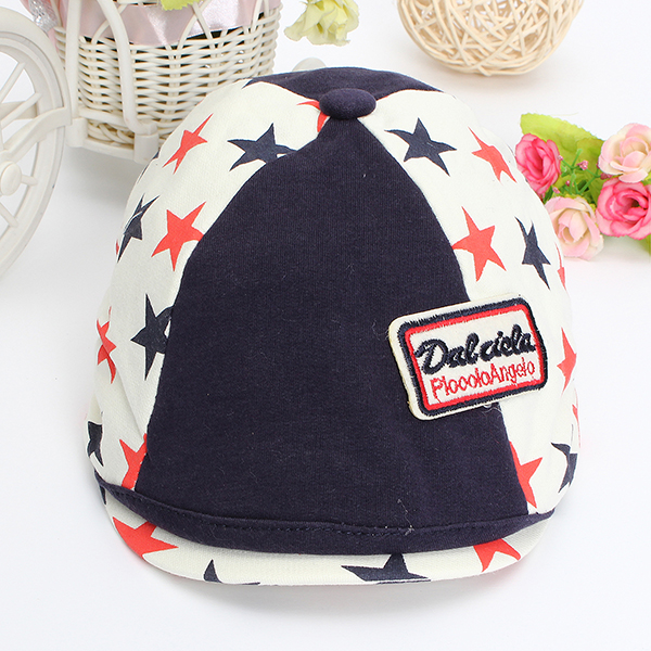Baby Children Flat Peaked Casquette Hat Five Pointed Star Beret Cap